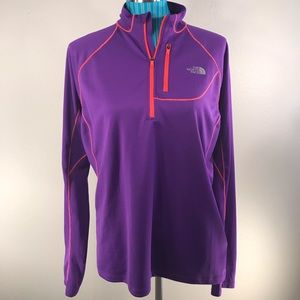 The North Face XL purple half zip long sleeve top